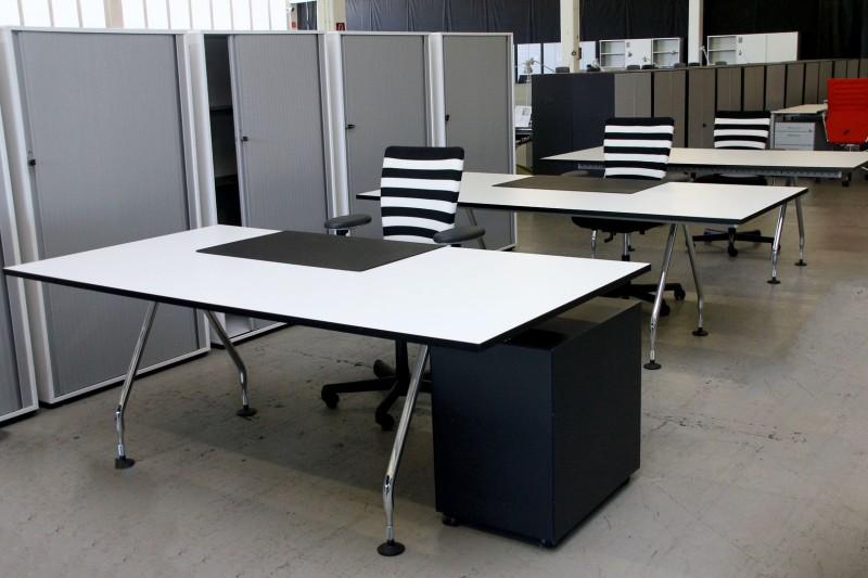 Vitra Arbeitsplatz 3-teilig 200 x 100 cm