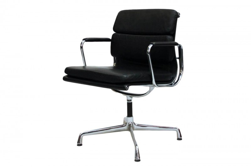 Vitra Soft PAd EA 207 Conference Chair Leather / Black