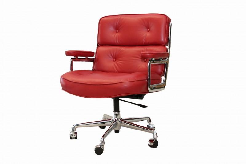 Vitra Lobby Chair ES 104 Leder / Rot