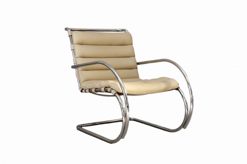 Knoll International MR Sessel Leder / Beige