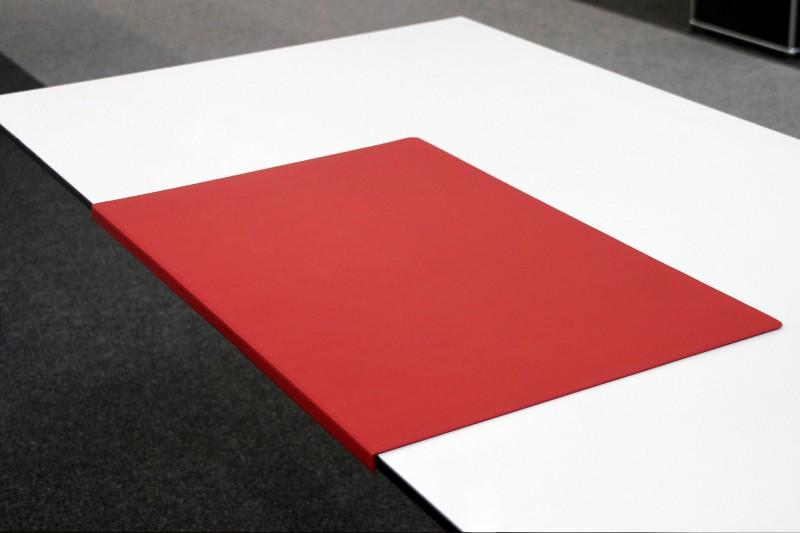 Schreibtischauflage / Schreibunterlage mit Kante Rot