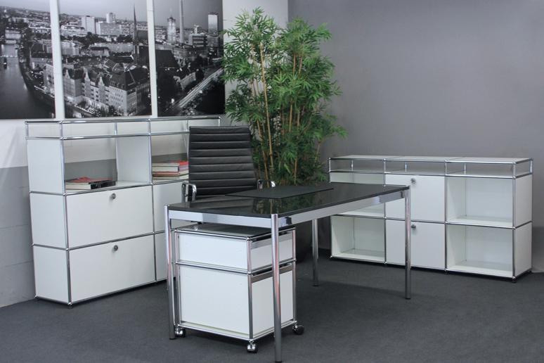 Usm haller granit schreibtisch 150 x 75 cm schreibtische for Schreibtisch 150