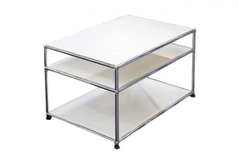 USM Haller Side Table Pure White RAL 9010 75 x 50 cm