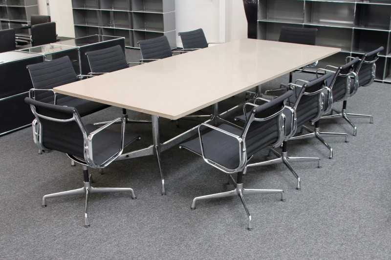 Vitra Conference Table Granite / Brown / Beige 300 x 125 cm