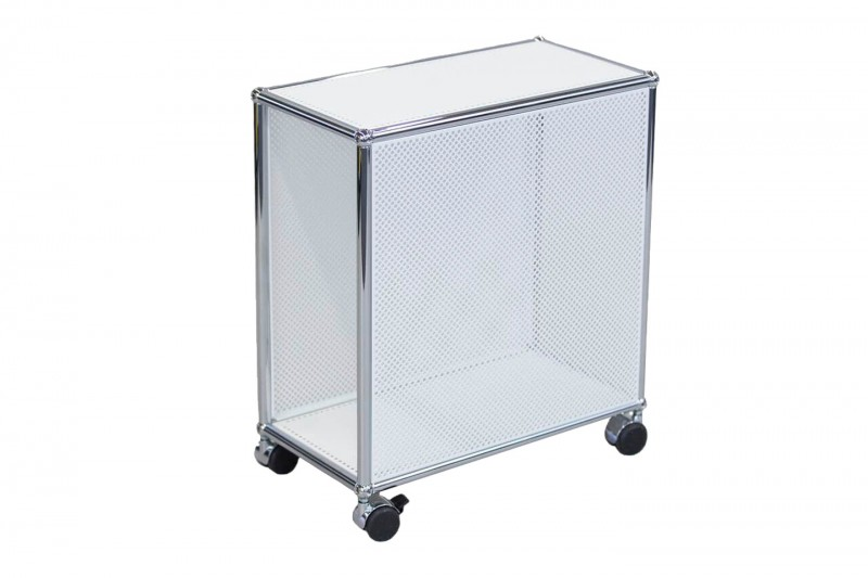 USM Haller Computer Trolley Perforated Pure White RAL 9010