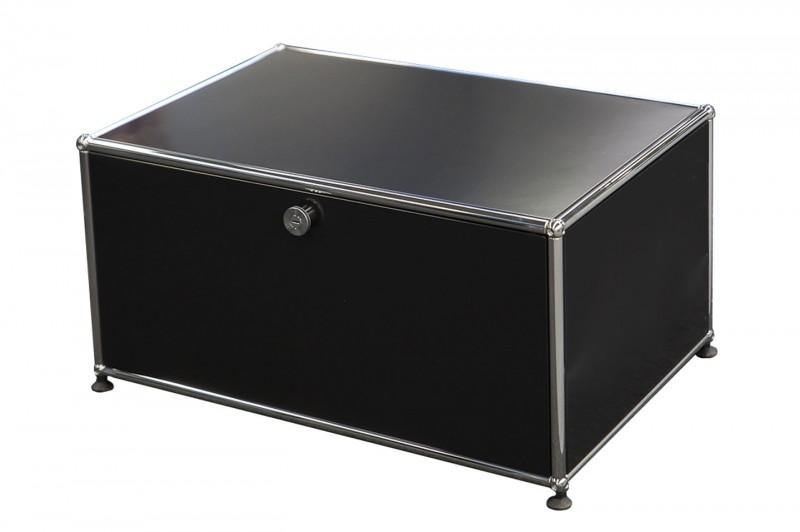 USM Haller TV-Board / Lowboard Graphitschwarz RAL 9011