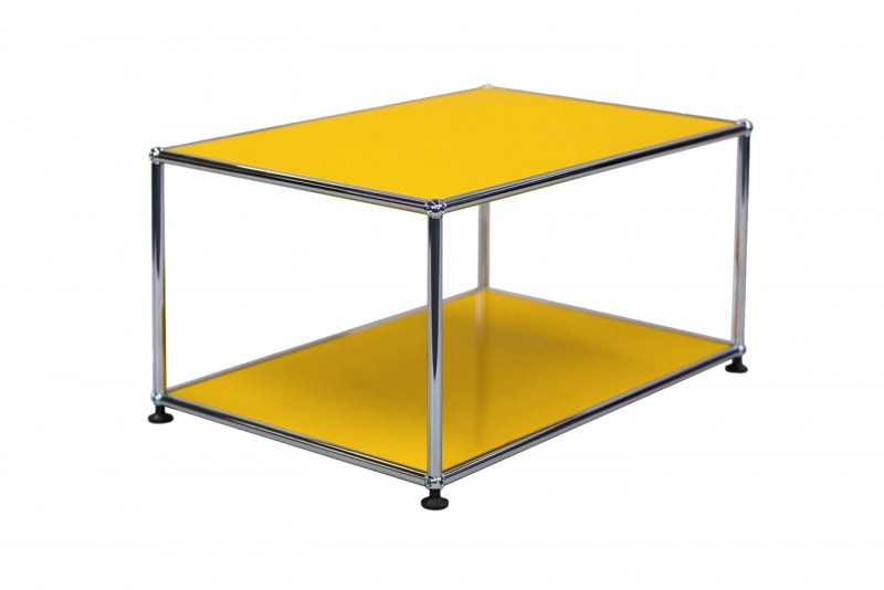 USM Haller Side Table Golden Yellow RAL 1004 75 x 50 cm