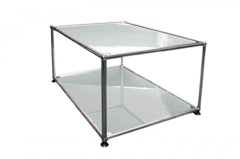 USM Haller Beistelltisch Glas / Satiniert 75 x 50 cm