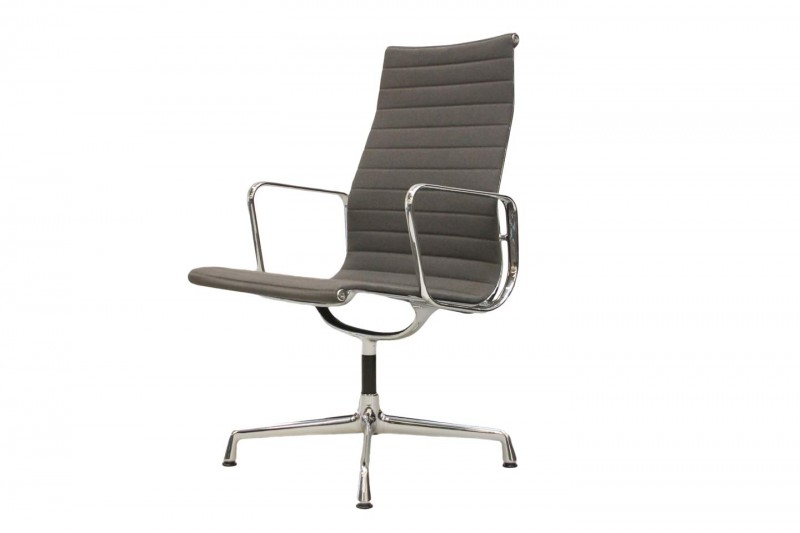 Vitra Aluminium Chair EA 112 Conference Chair Hopsak / Grey