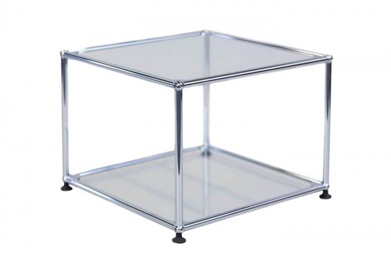 USM Haller Beistelltisch Glas / Satiniert 50 x 50 cm