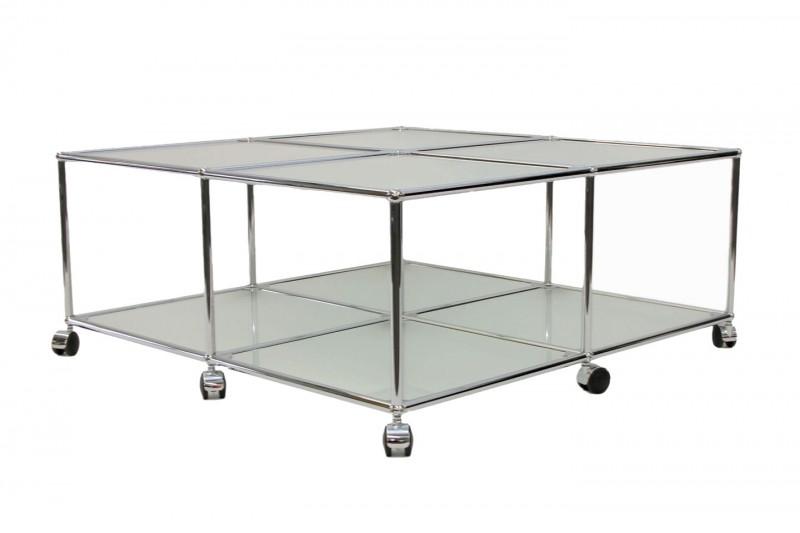 USM Haller Beistelltisch Glas / Satiniert 100 x 100 cm