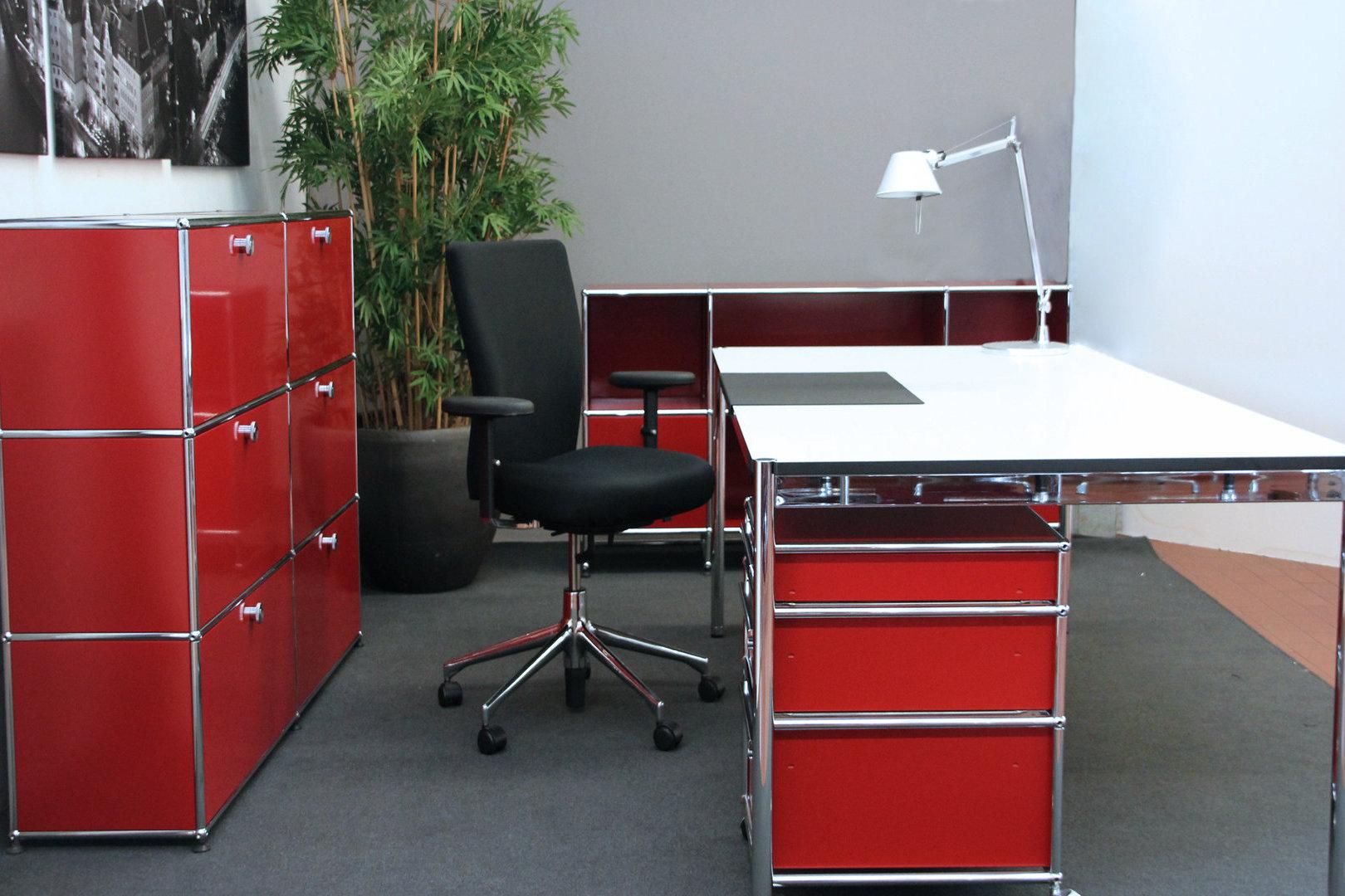 USM Haller Schreibtisch Weiß 200 X 100 Cm