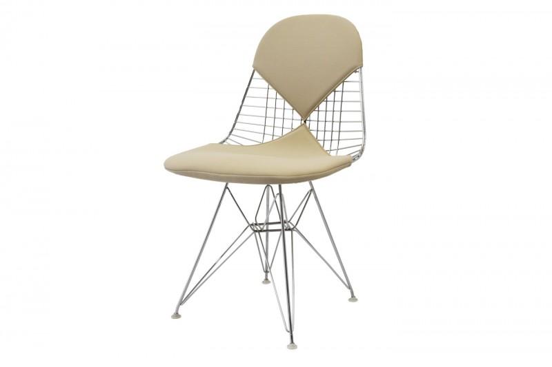 Vitra Eames Wire Chair DKR Hopsak / Beige
