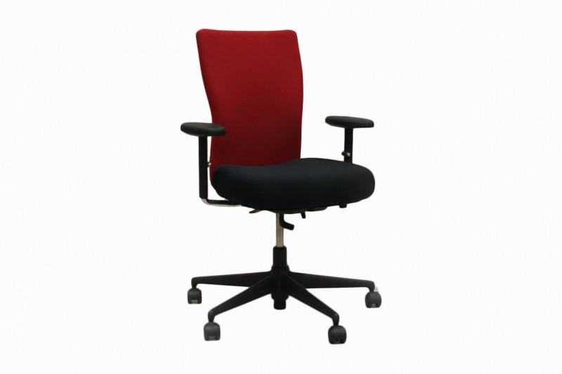 Vitra T-Chair Bürodrehstuhl Stoff / Schwarz / Rot