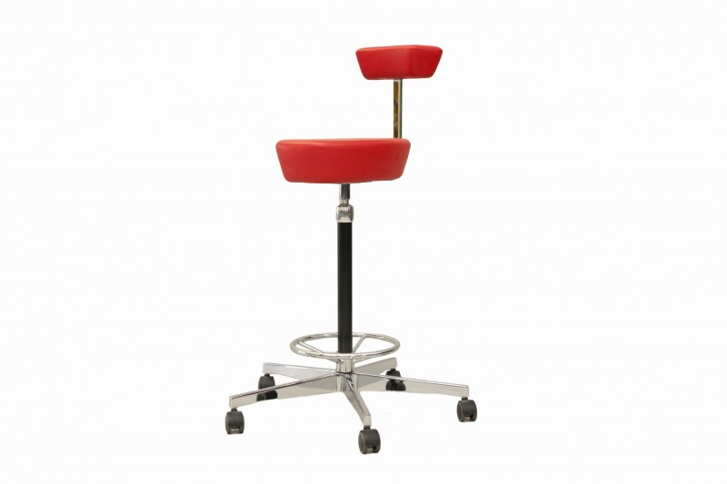 Vitra Nelson Perch Barhocker Leder / Rot
