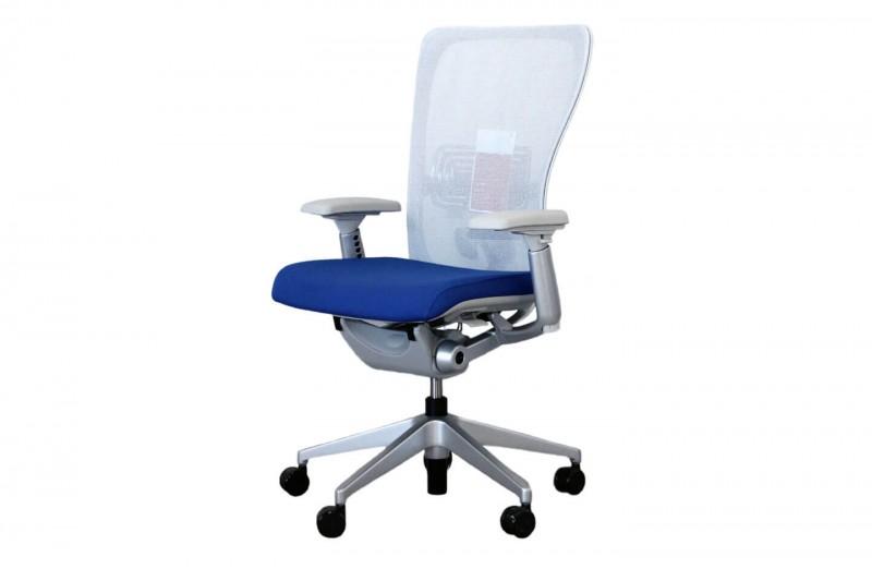 Haworth® Comforto 89 Bürodrehstuhl Stoff / Netz / Blau