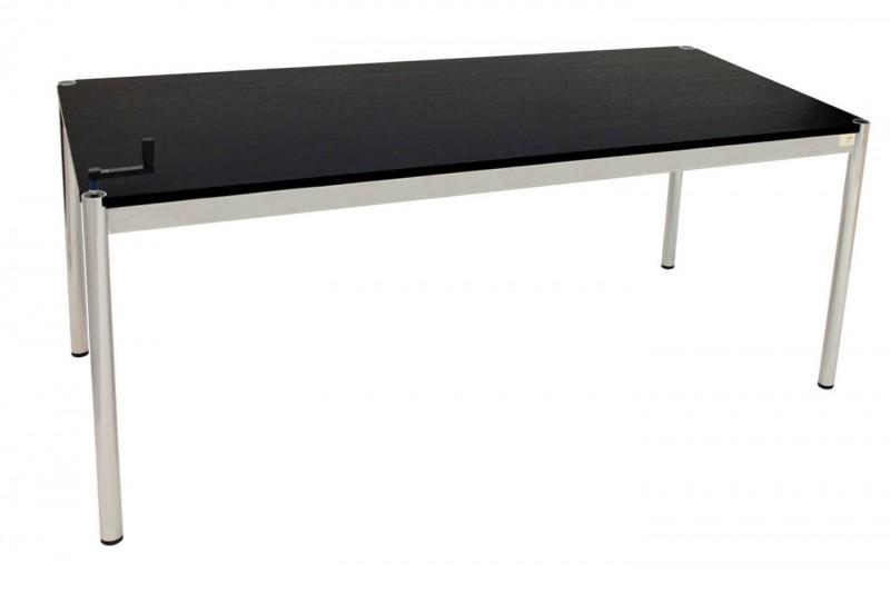 USM Haller Schreibtisch 175 x 75 cm höhenverstellbar Holz / Schwarz