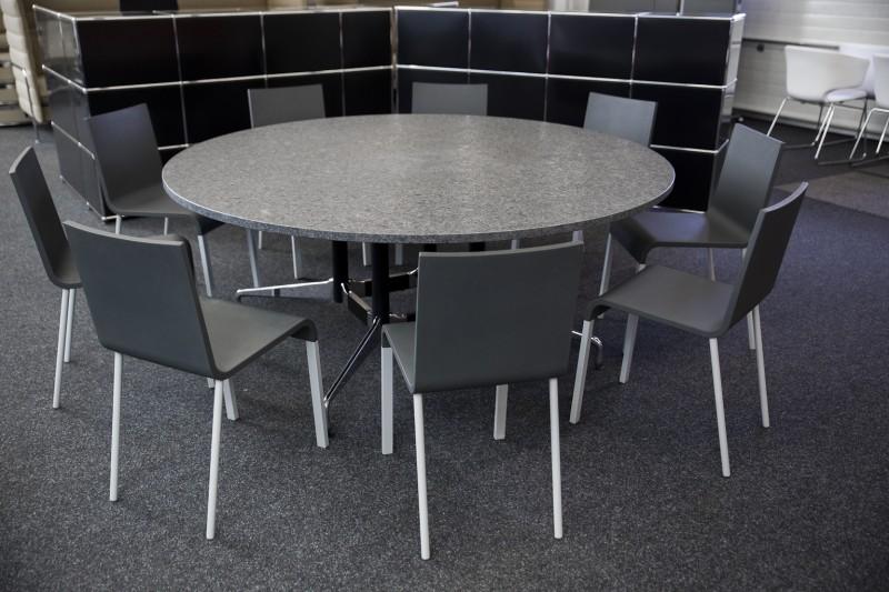 Vitra Konferenztisch Granit / Anthrazitgrau Ø 177 cm