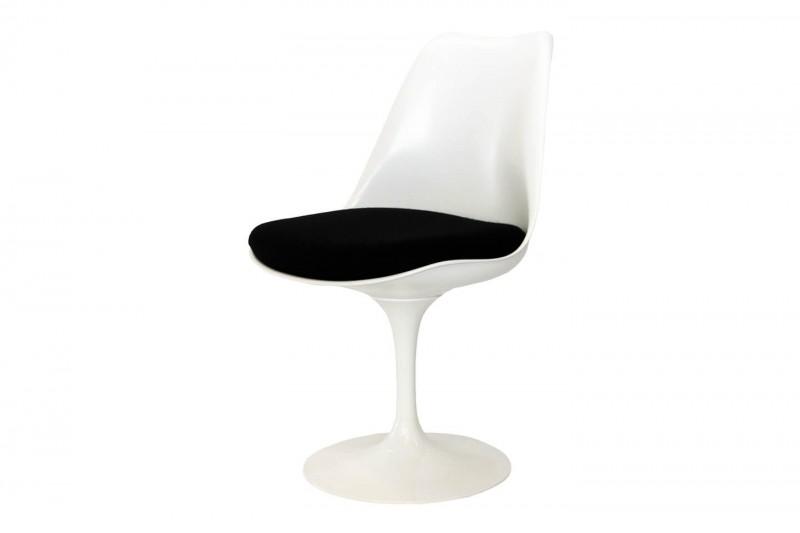 Knoll International Saarinen Tulip Stuhl Weiß / Schwarz