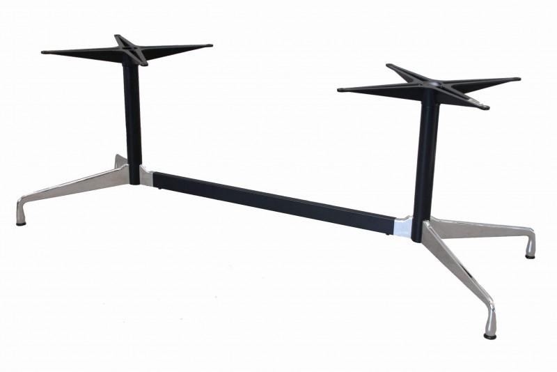 2-Fuß Gestell für Vitra Tisch / verchromt