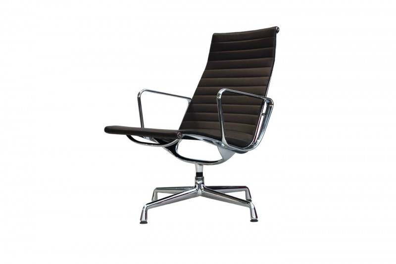 Vitra Aluminium Chair EA 116 Leather / Brown