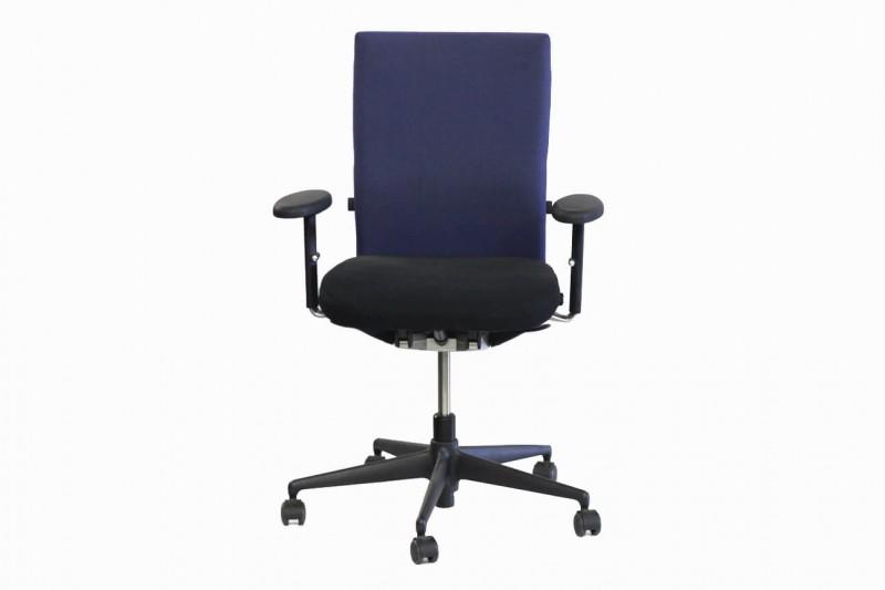 Vitra Axess Plus Logistik Bürodrehstuhl Stoff / Blau / Schwarz