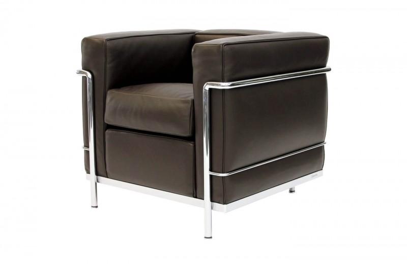 Cassina LC2 Le Corbusier Sessel Leder / Braun