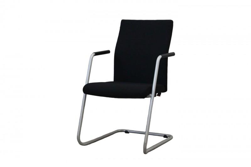 ZÜCO CUBO FLEX Cantilever / Visitor Chair Fabric / Black